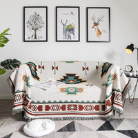 Wholesale Sofa Hanging Tapestry Plaid Throw Knit Crochet Soft Blankets Office Nap Shawl Blanket Leisure Air Conditioning Blankets