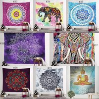 Wholesale blankets hanging resale online - 150 cm Bohemian Tapestry Mandala Beach Towels Hippie Throw Yoga Mat Towel Indian Polyester wall hanging Blanket decor DHB1961