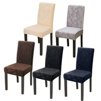 Wholesale home decor furniture resale online - Elastic Dining Chair Cover Stretch Slipcovers Protector For clean Home Furniture Decor
