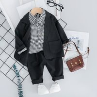 Wholesale birthday clothes for baby boy resale online - Kid Toddler Boy Formal Suit Party Birthday Clothing Sets Fashion Boys Toddler Baby Suits for Kid Coat