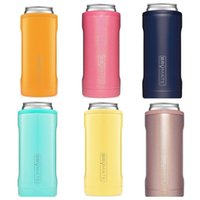 Wholesale stainless steel thermos mug resale online - Slim Double walled Stainless Steel Insulated Can Mug Cooler for Oz Slim Cans Thermos Cup Glitter Mermaid