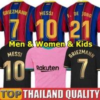 Wholesale 20 FC BARCELONA soccer jerseys camiseta ANSU FATI Messi GRIEZMANN DE JONG Football shirt set Men Women Kids Kit uniforms