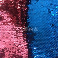 paillettenstoffmaterial groihandel-Doppelseitiges Flip bead Gewebematerial 5mm Sequin Tuch