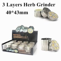 Wholesale bullet herb grinder for sale - Group buy Newest Layers mm Zinc alloy Herb Grinder Metal bullet Smoke Grinder Tobacco Grinders Wholesaler Smoking Accessories