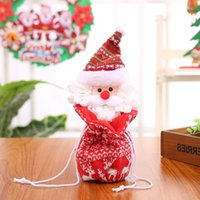Wholesale dolls favors for sale - Group buy Santa Tree Claus Christmas Gift Bags Xmas Candy Bag Merry New Year Favors Stockings Dolls Qhp1