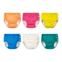Wholesale swimming diapers resale online - Unisex Adjustable Swim Diaper Pool Pant Swim Diaper Baby Reusable Washable Pool Diaper Baby Swim Diapers KKA8098