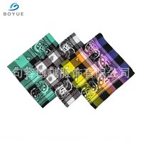 Wholesale feel well resale online - OAk1d Production of polyester brushed scarf square towel cloth gift plaid scarf square towel feels soft and permeates well