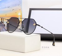 Wholesale white aviator glasses for sale - Group buy Sunglasses lens Vintage Fashion Beach Driving cycling aviator Half designer luxury for men mens women womens with box case