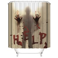 Wholesale bathroom curtains windows for sale - Group buy Halloween Shower Curtain Liner Window Curtains Bloody Hands for Halloween Decorations Bathroom Decor Inch JK2009KD