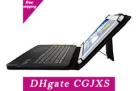 Wholesale windows 10 tablet pcs resale online - Removable Wireless Bluetooth Keyboard Pu Leather Case For Inch Ipad Windows Surface Android Tablet Pc Galaxy Tab Holder Universal