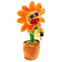 Wholesale pot electronics for sale - Group buy Dancing Sunflower Electronic Singing Toy Flower Bobble Plant Pot Swing