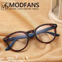 Wholesale readers glasses resale online - Men Round Presbyopic Glass Women Reading Glasses Leopard Retro Frame Eyeglasses Spring Hing Readers Glasses Diopter