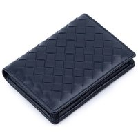 Wholesale sheep skin wallets resale online - New Arrivals Premium Hand Made Soft Sheep Skin Knitting Card Wallets Brand Genuine Leather Brand Business Card Holders LJ200907