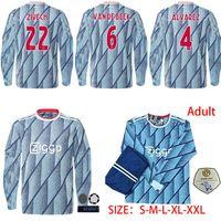 Wholesale full sleeve football jersey set resale online - PROME Long sleeves Ajax Amsterdam VAN DE BEEK NERES Soccer Jersey New HUNTELAAR TADIC ZIYECH FOOTBALL SHIRT MEN SETS Uniform