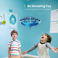 Wholesale drone remote control resale online - New Mini Drone UFO RC Quadcopter Infrared Sensor Anti Collision Aircraft Watch Handle Remote Control Helicopter Children Toy Gift