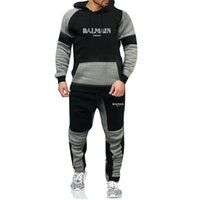 Wholesale New Fashion men s clothing hoodie Pants Sets new designer Tracksuit Men s Casual sweatshirt Sportswear Male Sweat Shirts winter coats