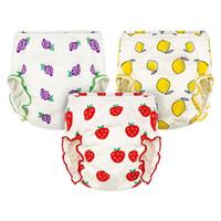 Wholesale swim diapers resale online - 3pcs set Washable Baby Cloth Diapers Reusable Adjustable Swim Diapers Training Pants Pocket Cloth Cover Wrap Nappy