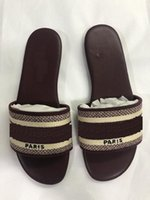 Wholesale fashion cartoon slippers resale online - luxury Designer Leather Ladies Sandals Summer Flat Slipper fashion beach Cartoon Big head Slipper Rainbow letters slippers women shoes
