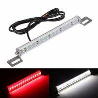 Wholesale led brake plate light resale online - New LED license plate lamp V brake light Taillight Rogue reversing light led two color