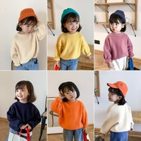 Wholesale children cashmere sweater for sale - Group buy Newest Great Quality INS Fashions Plain Kids Toddler Girls Sweater Soft Loose Boys Knitted Top Autumn Winter Children Pullover