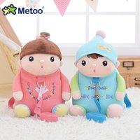 Wholesale metoo baby resale online - Prevent Fall Traction Plush Backpack Metoo Soft Kawaii Cute Toys For Girl Kid Baby Children School Shoulder Bag For Kindergarten