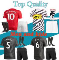 Wholesale short soccer kits resale online - Men Kids kit POGBA Manchester soccer jersey Jerseys UTD UniTed ALEXIS RASHFORD LINGARD football shirt boys RASHFORD kit