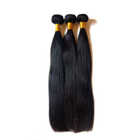 Wholesale coloured human hair for sale - Group buy Brazillian virgin human hair extension inch natural colour Peruvian remy hair weft Straight Soft and smooth China supplier retail stores
