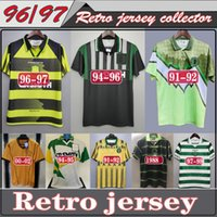 Wholesale 1994 Celtic Retro Soccer Jerseys football shirts LARSSON Classic Vintage Sutton football kits top