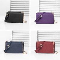 Wholesale women s messenger bag resale online - Designers Crossbody Bag PU Leather Chain Bag Women K S Messenger Bag Elegent Dinner Party Mini Handbags One shoulder Purses Wallets C72605