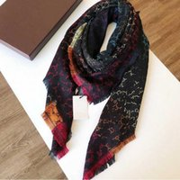 Wholesale square silk scarves for women for sale - Group buy Designer Wool scarf Pashmina for women High Quality Luxury Winter Silk Colorful shawls scarfs Square Neck rings Scarves gift x140cm A118