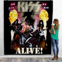 KISS Rock&Roll All Nite Party 3D Quilt Blanket For Kids Adult Bedding Throw Soft Warm Thin Blanket With Cotton Quilt style-1