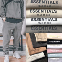 Fear Of God Sweatpants FOG Essentials Sweat Pants Mens Casual Long Fleeced Pants Trousers Men Women Hip Hop Skateboard Streetwear