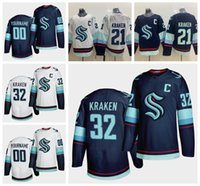 Wholesale 2020 Seattle Kraken Ice Hockey Jersey th New Team Custom Mens Womens Youth Home Road Any Nunber Any Name All Stitched Hockey Jerseys