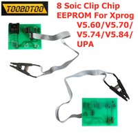 Wholesale clip boards for sale - Group buy 8 Soic Clip Adapter Xprog eeprom board with soic sop8 test clip for xprog V5 V5 V5 V5 UPA With Green Adapters