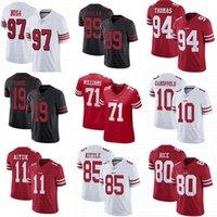 Wholesale 49er jerseys resale online - Custom San Francisco er Solomon Thomas Brandon Aiyuk Trent Williams Nick Bosa Deebo Samuel George Kittle Jimmy Garoppolo jerseys
