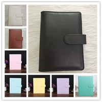 Wholesale notepad styles resale online - 8 Styles A6 Waterproof Creative Macarons Binder Notebook Shell Loose leaf Hand Ledger Diary Stationery Cover Gifts Office Supplies