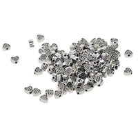 Wholesale tibetan heart charms jewelry making resale online - 100 Piece Tibetan Silver Alloy Heart Shape Loose Spacer Beads Jewelry Making Charms for DIY Necklace Bracelet Jewelry
