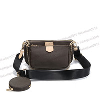 Wholesale coffee pockets for sale - Group buy hot Paris Sale piece set bags women crossbody bag Genuine handbags purses lady tote bags Coin Purse three item