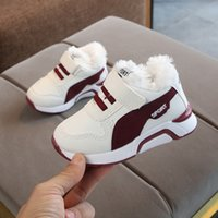 Wholesale boys kids loafers for sale - Group buy Children Casual Shoes Winter Boy Thicken Velvet Sneakers Shoes Toddler Rubber Soft Bottom Warm Kids For Girl Sport Loafers
