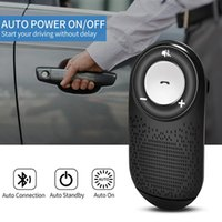 kit mãos livres de viseira bluetooth venda por atacado-Hands-Free Car Wireless Music Bluetooth Mp3 Receptor Visor Música jogador Adaptador Bluetooth mãos livres Kit Telefone Car