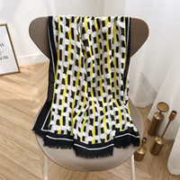 Wholesale hand painted scarves for sale - Group buy 2020 new scarf women s winter scarves yellow and black hand painted graffiti long shawl