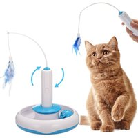 Wholesale pet cats games resale online - Cat Interactive Kitten Game Playing Rotating Pet Teaser Toys Funny Electric Accessories Interactive Rotating Pet Funny Puzzle Gift
