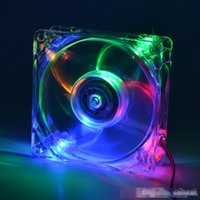Wholesale fan case 8cm resale online - pc computer fan case cooling fan unit cm with LED lights chassis fan