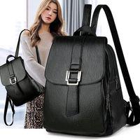 Wholesale japanese school supplies for sale - Group buy Black School Supplies Backpack Female PU Leather Backpack Japanese Street Bag Women s School Bag for Adolescent Girls Backpacks