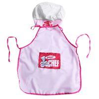 Wholesale kids chef hat resale online - Childs Kids Chef Hat Apron Cooking Baking Boy Girl Chefs Junior Gift Pink