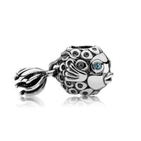 Wholesale music fishing resale online - NEW Sterling Silver Authentic Angel Fish Charm Bead Original Women Jewelry Gift