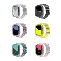 Wholesale 42 mm sports watches for sale - Group buy 2020 Hot Selling Fluorescent Color TPU Bracelet Wristband Transparent Sport Watch Band mm for Apple Watch Band
