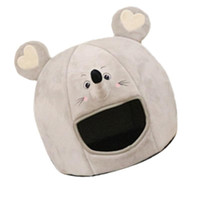 Wholesale pet rats resale online - 1 Pc Chic Cute Lovely Pet Supply Dog Sleeping Bed Rat Shaped Pet Nest Washable House for Indoor Home Travel Outdoor