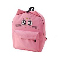 Wholesale shcool bags resale online - Cat Backpack For Women Cute Cat Printing Backpacks for Teenage Girl Travel BackPack Sailor Moon Canvas shcool bag