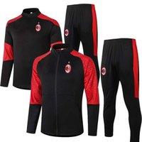 Wholesale ibrahimovic training suit resale online - 2020 AC PIATEK KAKA Soccer training suit jacket survetement maillot de foot IBRAHIMOVIC mIlan football Tracksuit